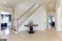Magnificent marble Foyer - 16323 HUNTER PL, LEESBURG
