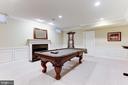 Billiards Room with Fireplace - 16323 HUNTER PL, LEESBURG