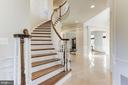 Gorgeous Oak Curved Staircase - 16323 HUNTER PL, LEESBURG
