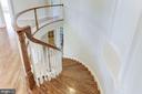 Curved Oak Staircase - 16323 HUNTER PL, LEESBURG