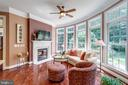 Cozy Keeping Room w/ fireplace - 40947 GRENATA PRESERVE PL, LEESBURG