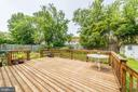 Deck - 6106 CLEARBROOK DR, SPRINGFIELD