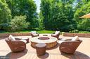 Builtin Gas Fire pit w/ granite surround - 40947 GRENATA PRESERVE PL, LEESBURG