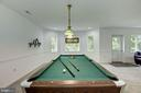 Pool table/game area - 11019 KENILWORTH AVE, GARRETT PARK