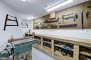 Work shop with antique tool display - 11019 KENILWORTH AVE, GARRETT PARK