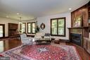 Large Great Room with gas fireplace and built-ins - 11019 KENILWORTH AVE, GARRETT PARK