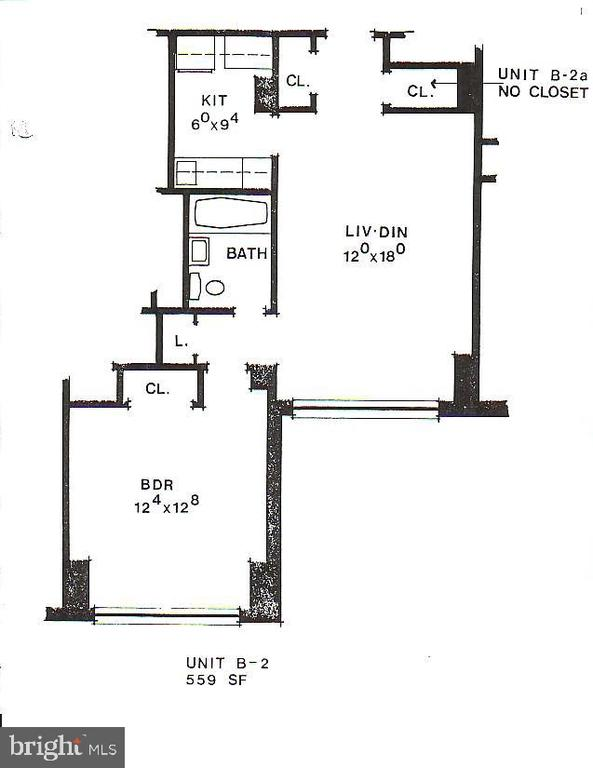 559 Sq ft of living space - 1121 ARLINGTON BLVD #405, ARLINGTON
