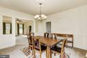 Formal dining room opens to living room - 8823 BARN OWL CT, GAINESVILLE