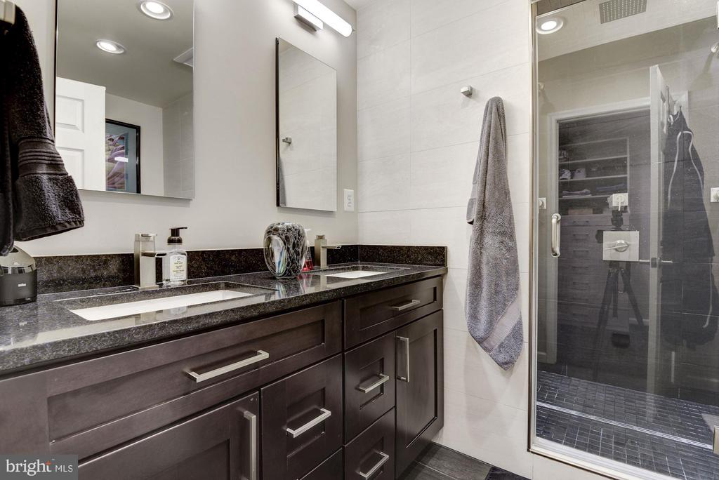 Master Bath w Duel Sinks and Steam Shower - 905 N HOWARD ST, ALEXANDRIA