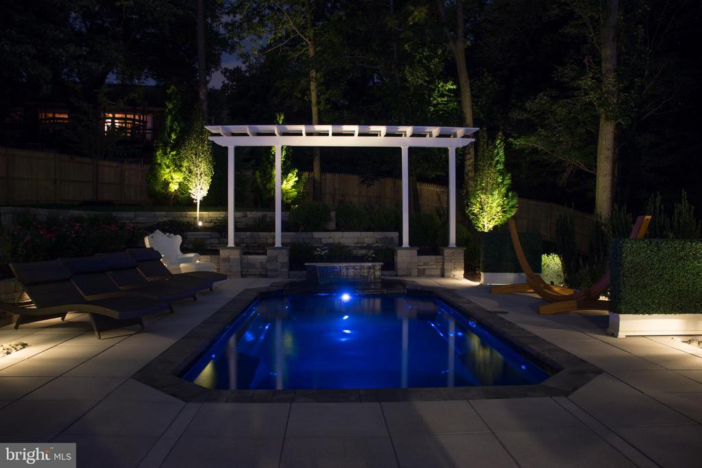Spectacular Pool Under the Evening Lights - 905 N HOWARD ST, ALEXANDRIA