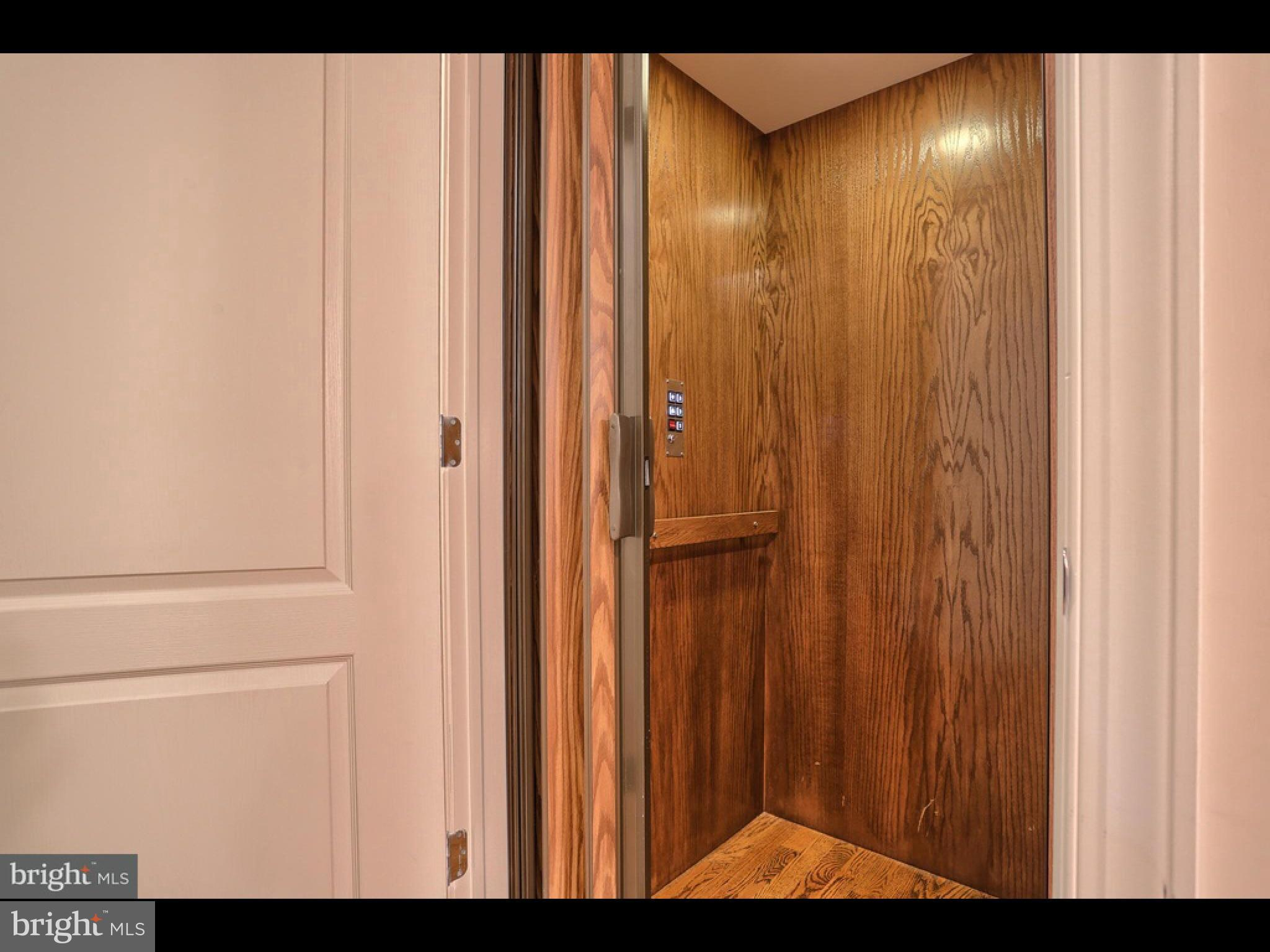 Interior of 3 floor elevator