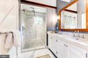 Master bath w/ heated tile floors - 9587 BRONTE DR, BURKE