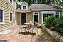 One of two brick patios - 9587 BRONTE DR, BURKE