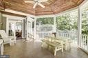 Beautiful Screened in Porch off of Kitchen & FR - 21099 RAINTREE CT, ASHBURN