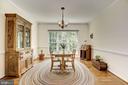 Dining Room Off of Kitchen & Living Room - 21099 RAINTREE CT, ASHBURN