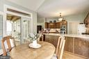 Kitchen Opens to Fantastic Screened in Porch - 21099 RAINTREE CT, ASHBURN