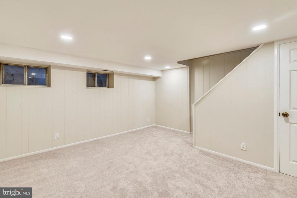 LL w/ recessed lighting & new carpet - 4833 28TH ST S #A, ARLINGTON