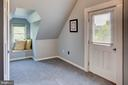 Bedroom 3 window seat and door to balcony - 34876 PAXSON RD, ROUND HILL