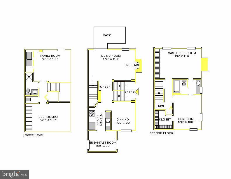 Floorplan - 2817-D S WOODROW ST #124-8, ARLINGTON