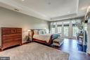 Master Bedroom with Balcony - 18278 RIVIERA WAY, LEESBURG