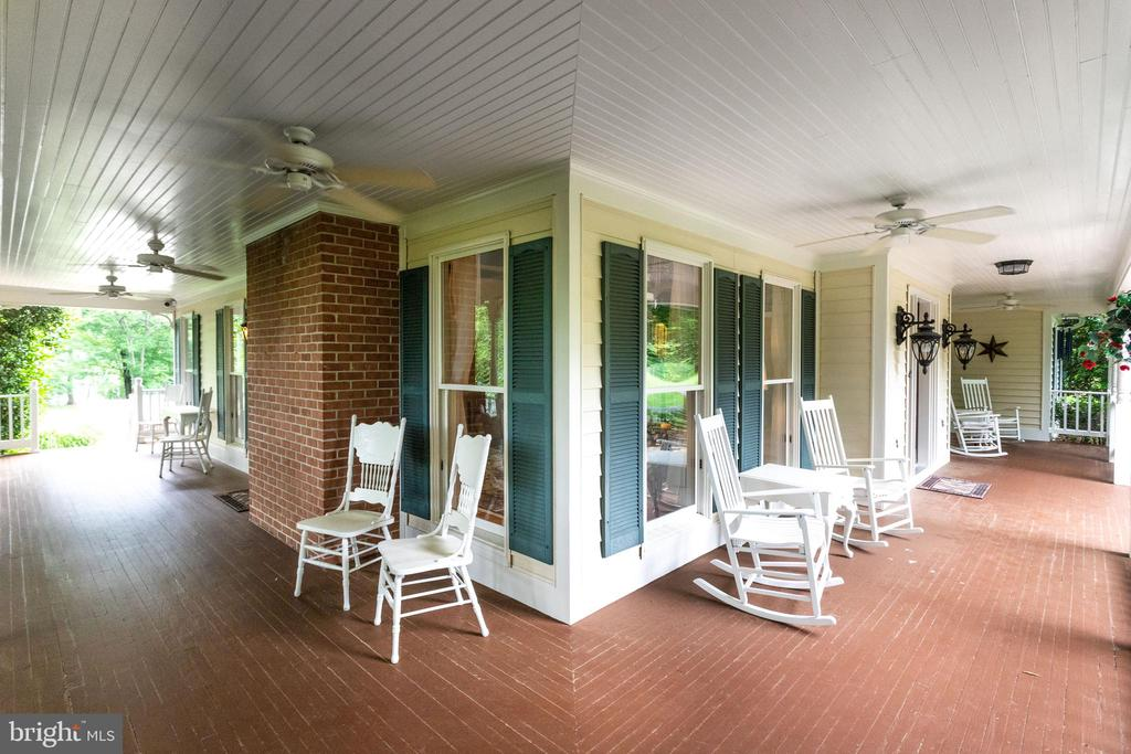 Front Porch wraps around to the left side of house - 11256 WAPLES MILL RD, OAKTON