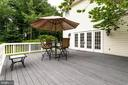 Rear Deck made of composite materials. - 11256 WAPLES MILL RD, OAKTON