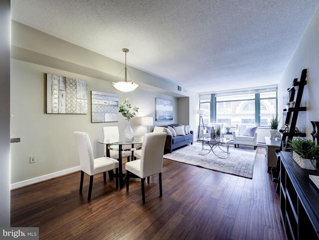 Open floor plan living space - 1150 K ST NW #309, WASHINGTON