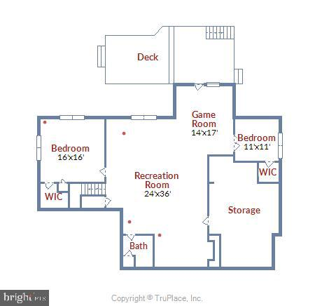 Lower Level Floor Plan - 20985 NIGHTSHADE PL, ASHBURN