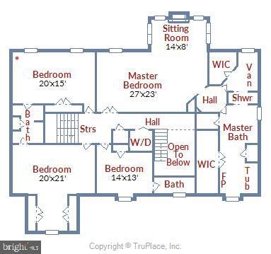 Upper Level Floor Plan - 20985 NIGHTSHADE PL, ASHBURN