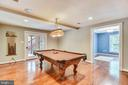 Game Room with Pool Table (CONVEYS!) - 20985 NIGHTSHADE PL, ASHBURN