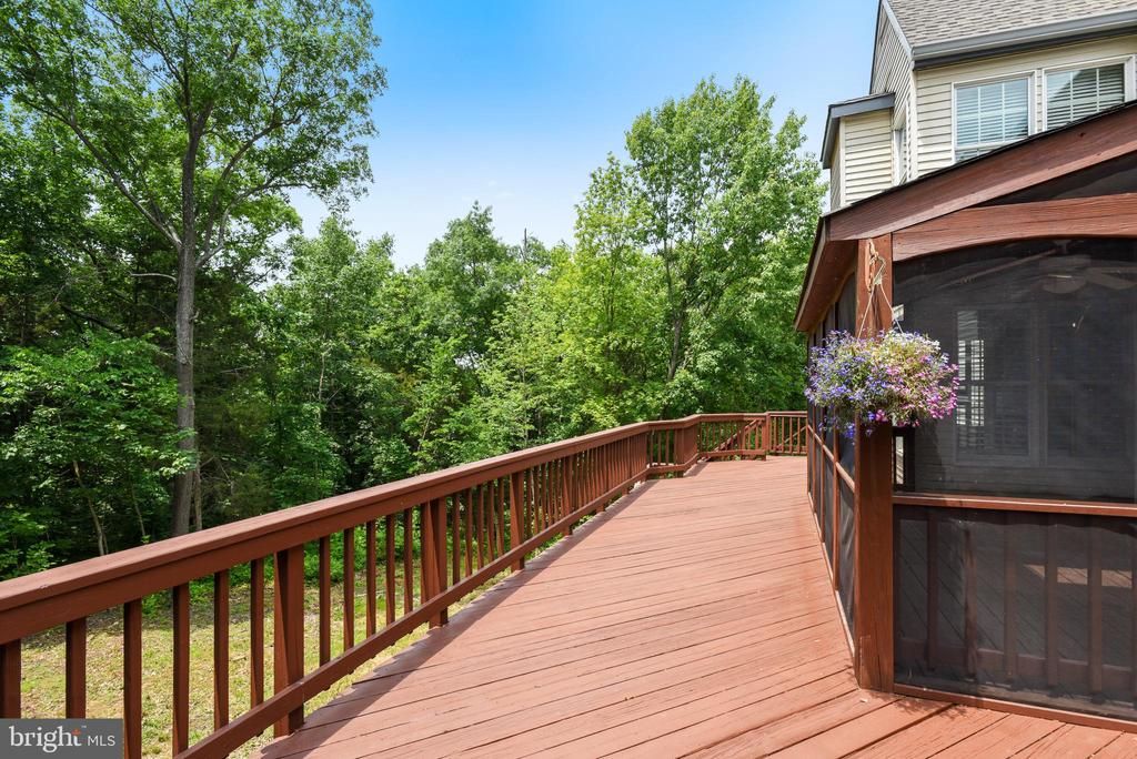 Upper Level Deck overlooks Wooded Lot - 20985 NIGHTSHADE PL, ASHBURN