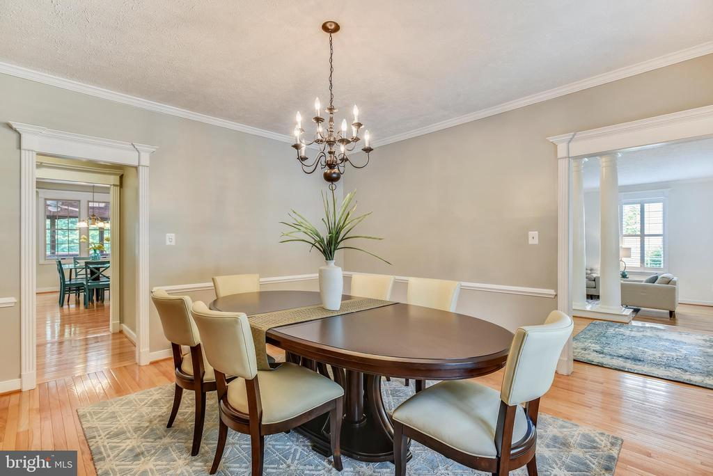 Dining Rm w/Crown & Chair Moldings~HW Floors - 20985 NIGHTSHADE PL, ASHBURN