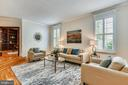 Living Rm w/Plantation Shutters~Crown Molding - 20985 NIGHTSHADE PL, ASHBURN