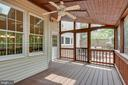 Screened Porch w/Ceiling Fan - 20985 NIGHTSHADE PL, ASHBURN