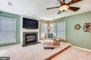 Sitting Rm w/Gas Fireplace & TV Mount in Cabinet - 20985 NIGHTSHADE PL, ASHBURN