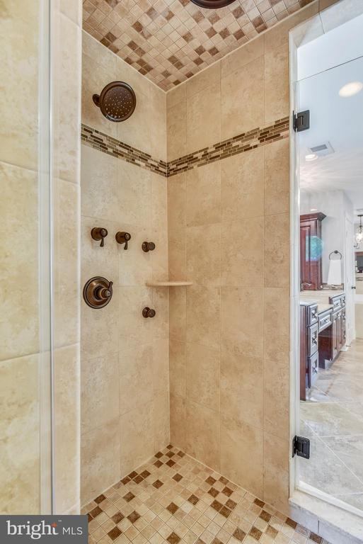 Tandem Shower w/Custom Tile and Water Features - 20985 NIGHTSHADE PL, ASHBURN