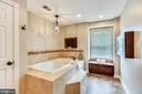 Jacuzzi Tub with Apple TV & Custom Tile Surround - 20985 NIGHTSHADE PL, ASHBURN