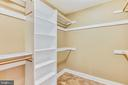 Walk-In Closet with PLENTY of Storage - 20985 NIGHTSHADE PL, ASHBURN