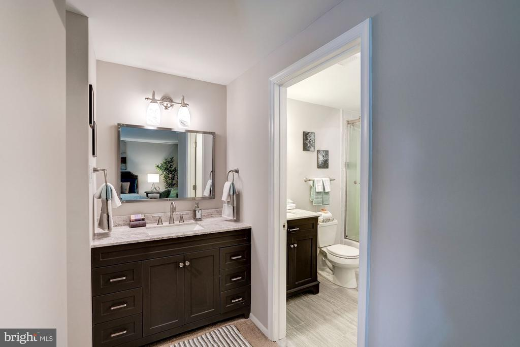Separate Vanity Leads to Dual Entry Bath - 11712 MOSSY CREEK LN, RESTON