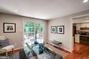 with views trees & sliding glass doors to the deck - 11712 MOSSY CREEK LN, RESTON