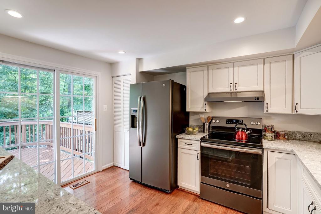 Sliding Glass Doors in Kitchen - 11712 MOSSY CREEK LN, RESTON