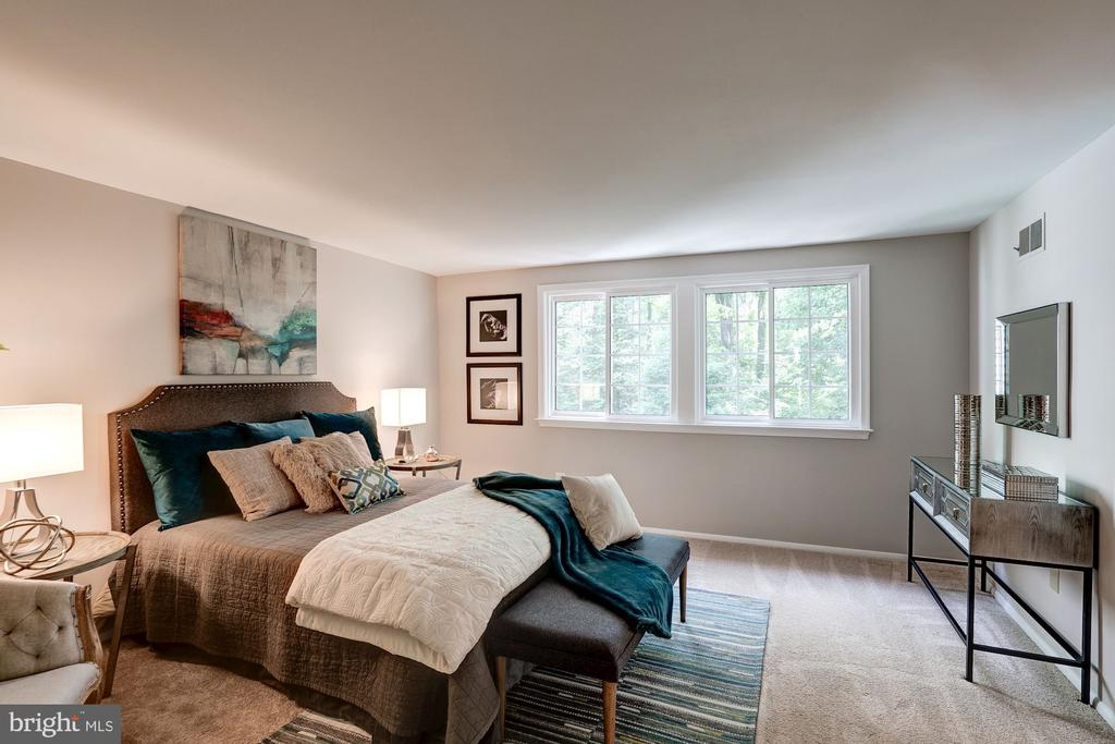 Serene Master Bedroom with Views of Trees - 11712 MOSSY CREEK LN, RESTON