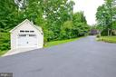 separate detached 1 car garage built in 2015 - 4560 FOREST DR, FAIRFAX