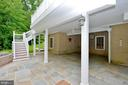 with stairs down from trex deck - 4560 FOREST DR, FAIRFAX