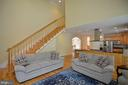 back stair case up to bedrooms - 4560 FOREST DR, FAIRFAX