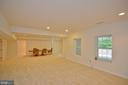 large recr room - 4560 FOREST DR, FAIRFAX