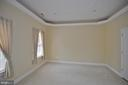 tray ceiling in sitting room of master room - 4560 FOREST DR, FAIRFAX