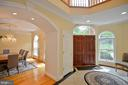 flows to great room or formal dining room at entry - 4560 FOREST DR, FAIRFAX