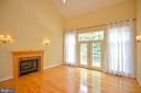 gas firplace in great room - 4560 FOREST DR, FAIRFAX
