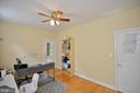den / office/ study with access to side porch - 4560 FOREST DR, FAIRFAX